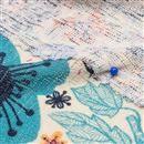 Impression sur Jersey avec tricot irrégulier