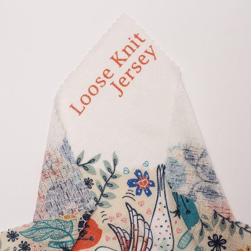 Tissu Jersey tricot imprimé avec design