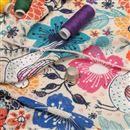 Loose knit Jersey fabric print