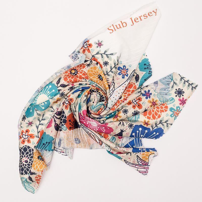 Slub Jersey synthetische stof swirl