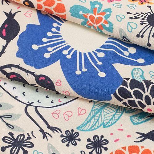 Crepé de china para lencería personalizada