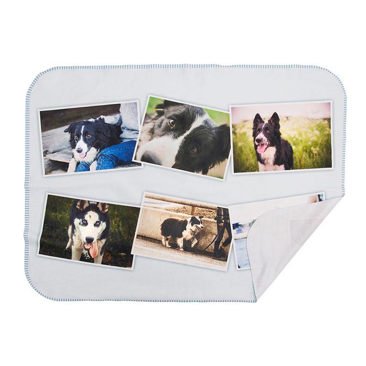 gepersonaliseerde honden deken met collage