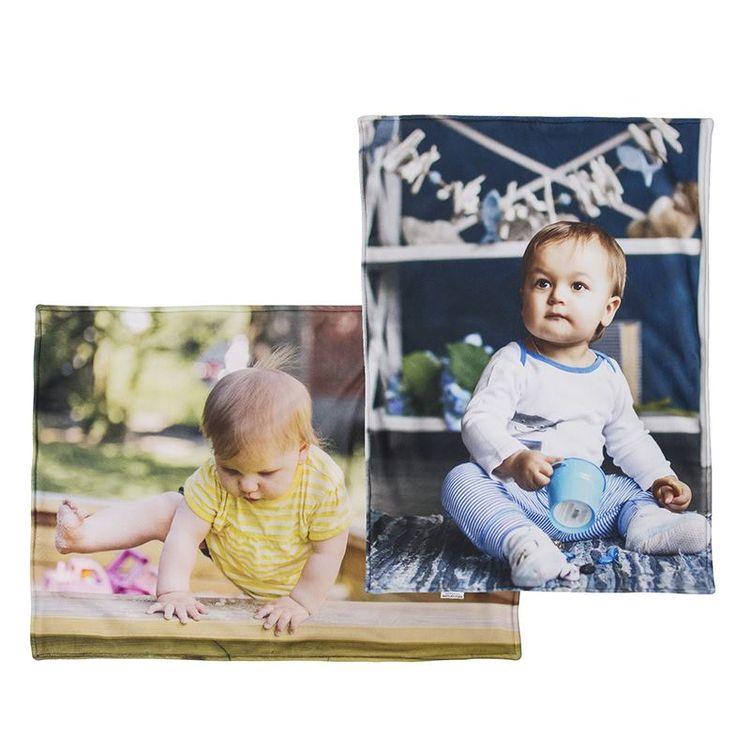 Fleece deken bedrukt met baby foto's