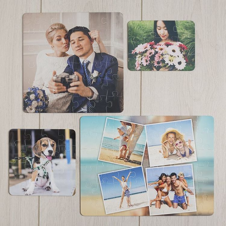 plastic puzzel verzameling met foto's