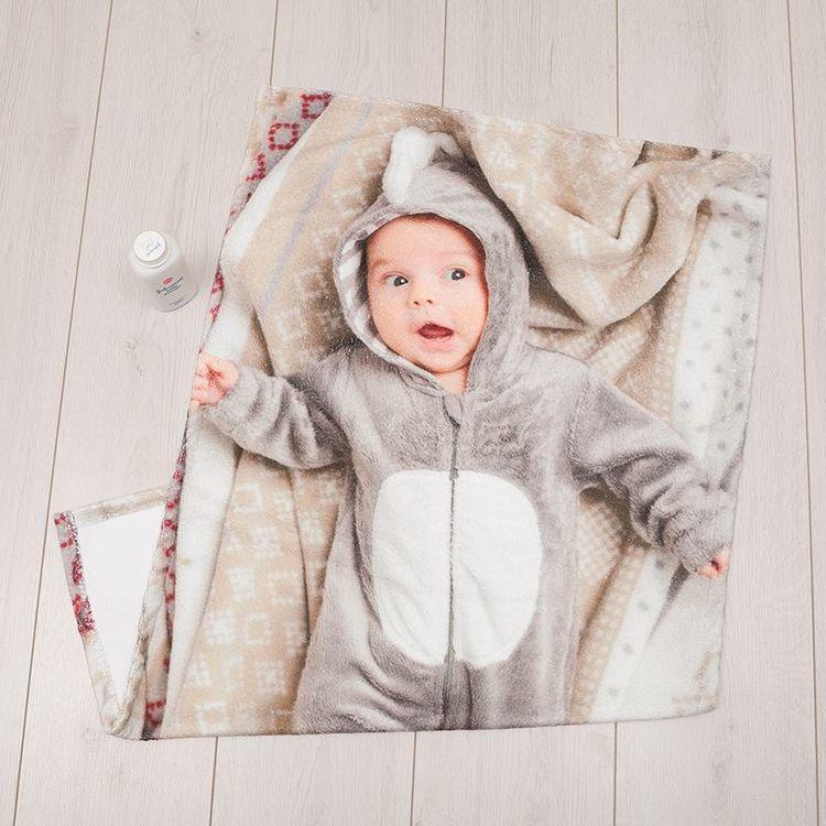 Serviette bébé personnalisée avec photo