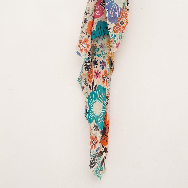 Silk Georgette digital print fabric texture detail