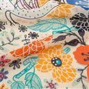 print on Silk Georgette fabric custom folds