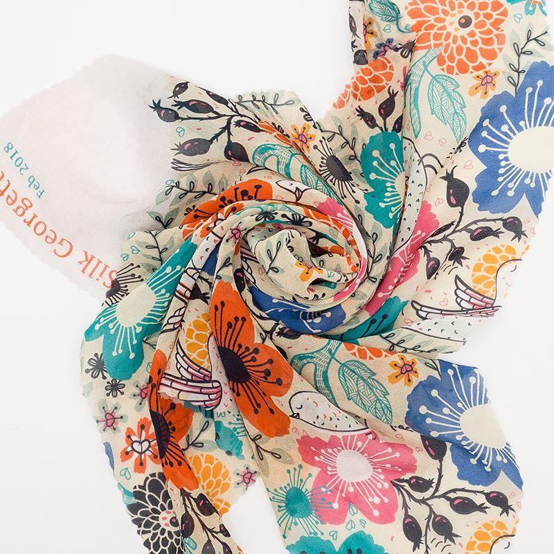 Mousseline de soie 100% naturelle pour la couture