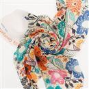 Printing on Silk Georgette Fabric online swirl