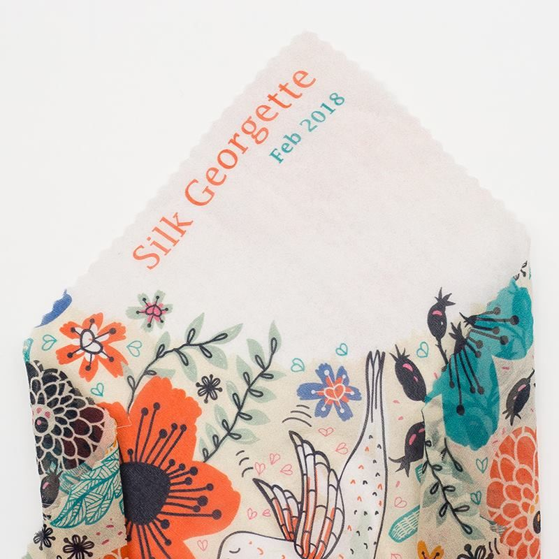 digital Silk Georgette printing sewing