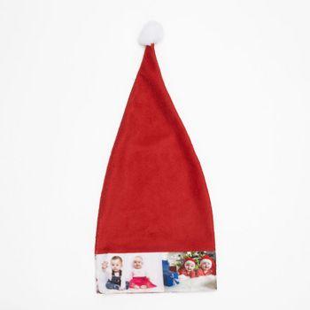 fotodruck auf weihnachtsmann mütze