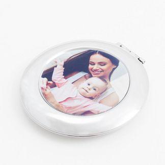 taschenspiegel bedruckt mit foto mutter und baby