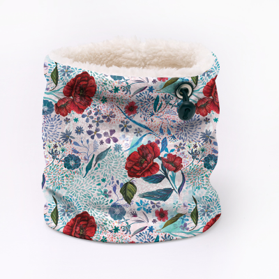 custom fleece neck warmer printed with your designs