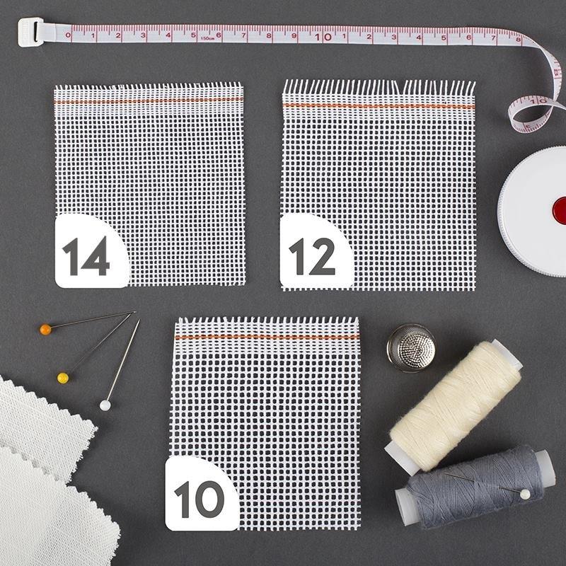 Toile à broder en polycoton 10, 12 ou 14 points/pouce