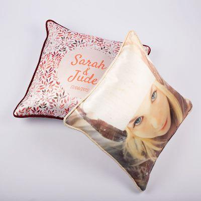 cojines de seda personalizados