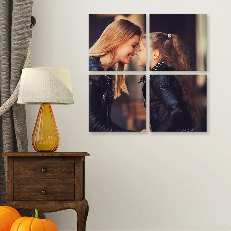 multi panel foto's moeder en dochter