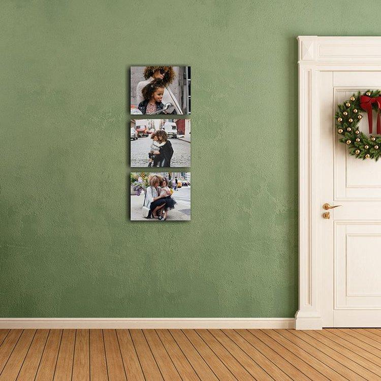 conjunto de mini lienzos personalizados 3 fotos