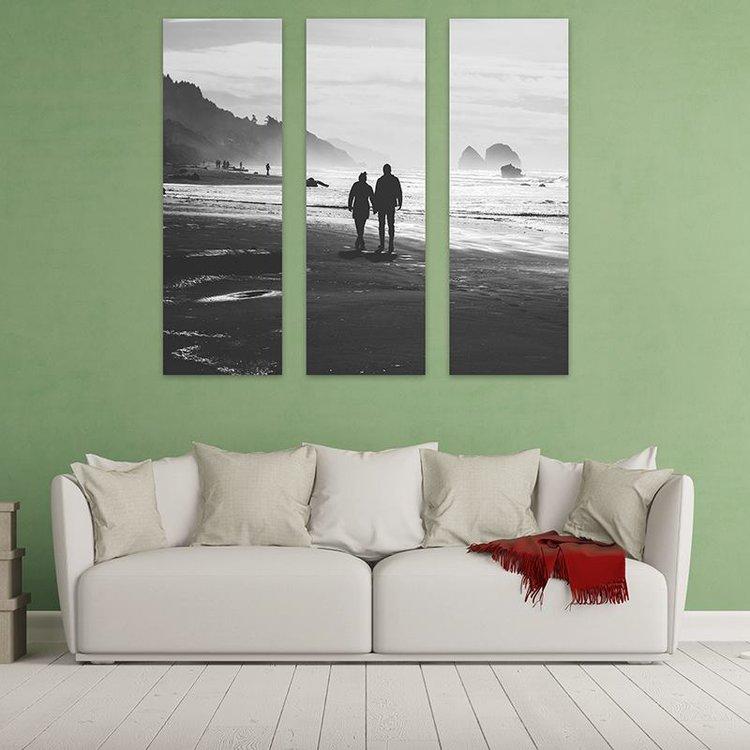 drieluik canvas aan de muur