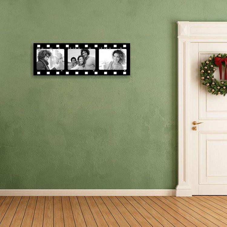 Filmstreifen Collage auf Leinwand