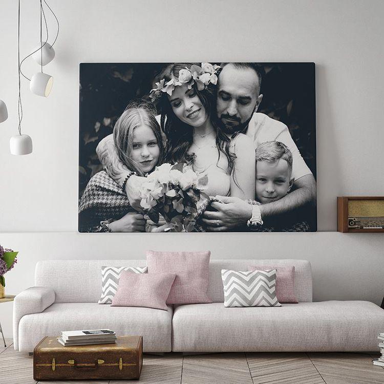 Fotoleinwand Schwarz Weiß