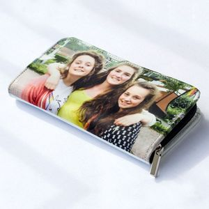 cartera con cremallera personalizada