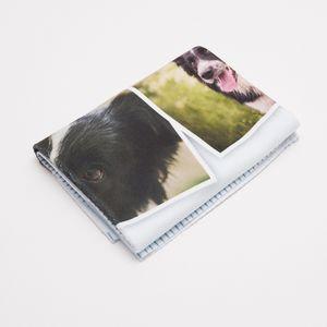 Handmade photo pet blanket