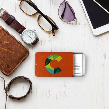 Porte-carte de visite avec design