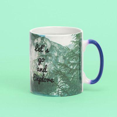 csutom heat changing mug