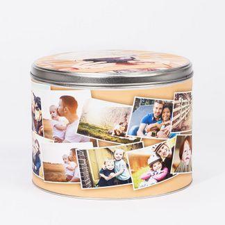 Boite à biscuits avec montage photo
