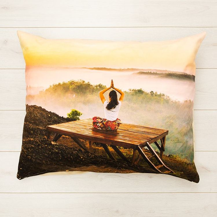 personalised meditation cushion cover