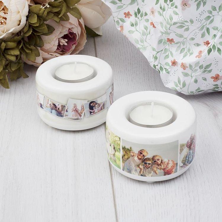 personalised tea light holders selection