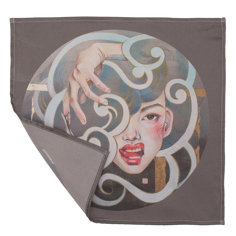 Mouchoir en tissu personnalisé avec dessin