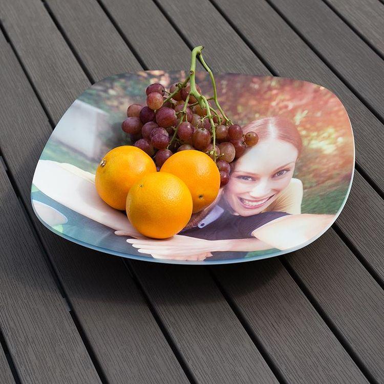 gepersonaliseerde fruitschaal met foto