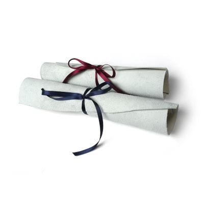 custom leather scroll print