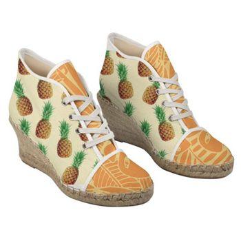 customized heeled espadrilles