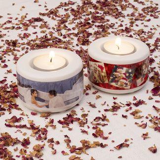 Bougies personnalisées romantiques