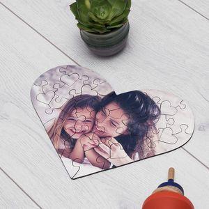 puzzle en forma corazón personalizado