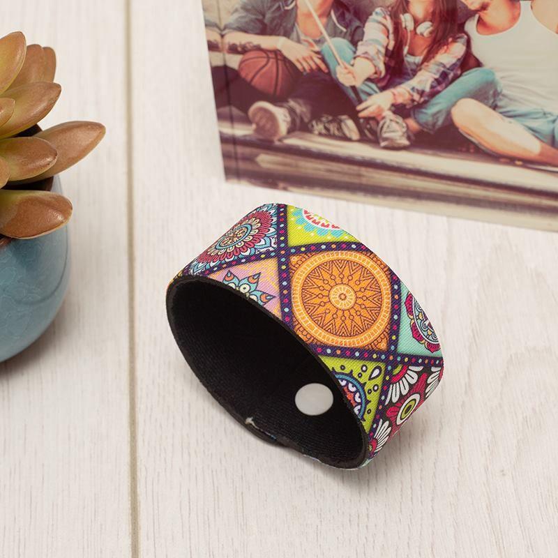 Bracelet en tissu personnalisé avec design