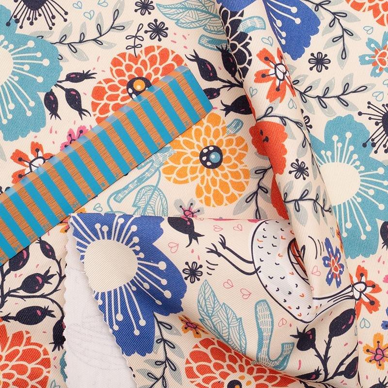 Custom printed drill fabric