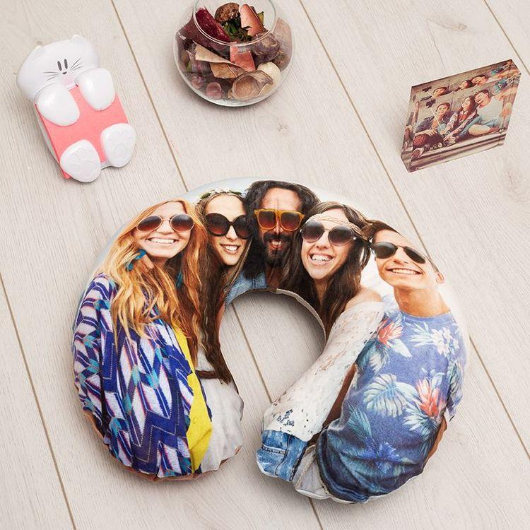 Neck Pillow friend photo print