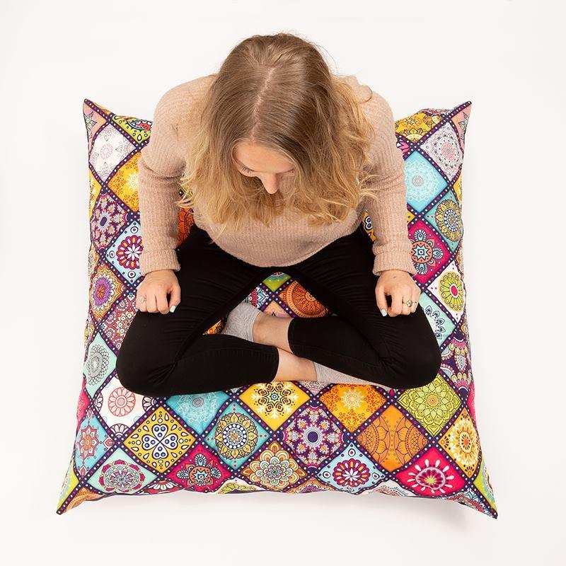 Housse de coussin de sol avec design pour vous asseoir