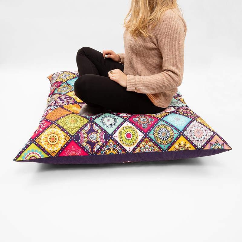 meditationskissen selber machen yoga kissen mit fotos. Black Bedroom Furniture Sets. Home Design Ideas