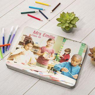 Boîte à crayons pour maitresse d'école