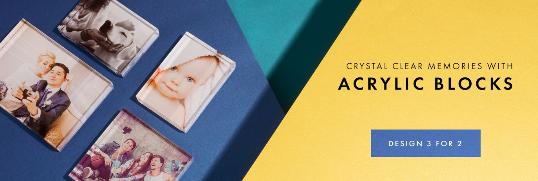 acrylich photo blocks