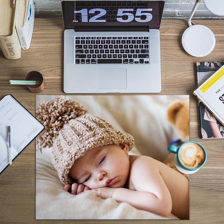 Sous-main personnalisé avec photo de bébé
