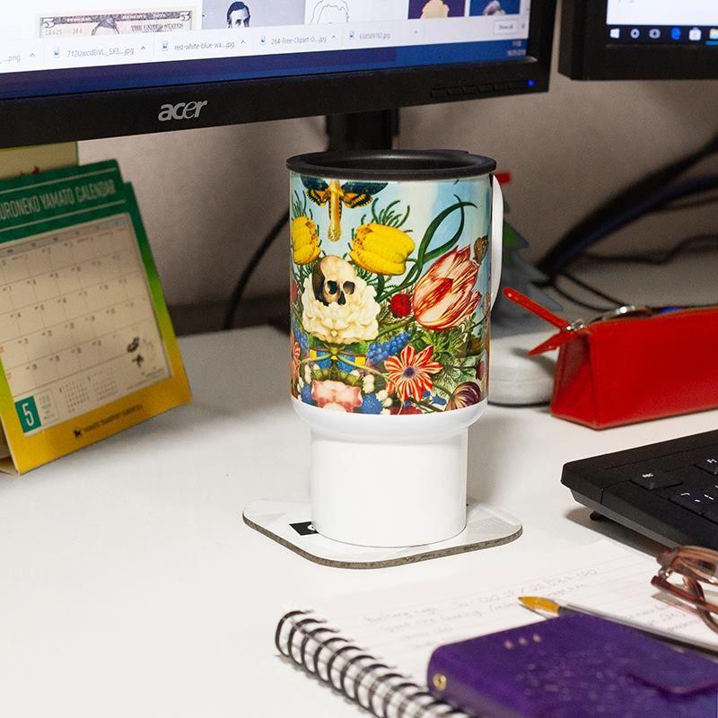 wiederverwendbarer kaffeebecher mit eigenem design
