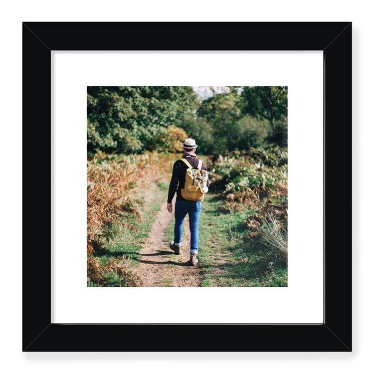Encadrement photo avec cadre noir mat