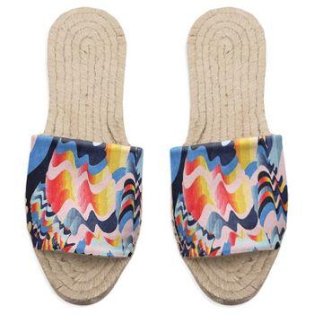 espadrillo sandaler med eget tryck