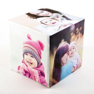 christening photo cube
