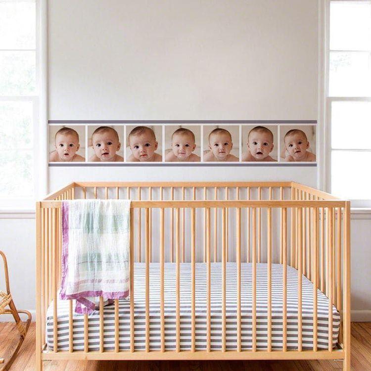 Frise murale personnalisée avec photo de bébé